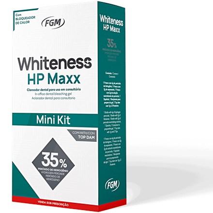 Clareador Mini Kit Whiteness HP MAXX com Top Dam