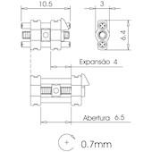 Expansor Mini - Abertura 6,5 mm
