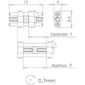 Expansor Mini - Abertura 9 mm