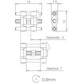 Expansor Standard - Abertura 7 mm
